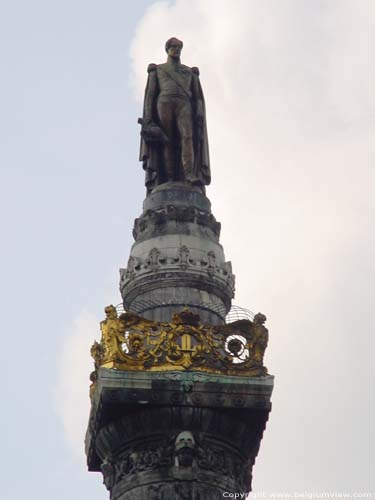 Congrescolumn BRUSSELS-CITY / BRUSSELS picture Detail fo the top: king Leopold I